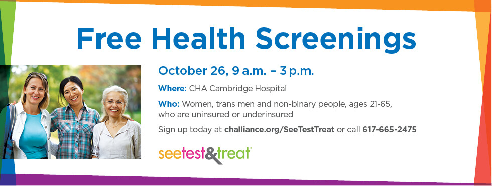 Free Health Screenings, October 26th