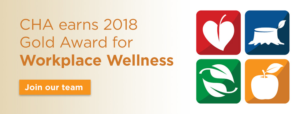 CHA earns 2018 Gold Award for Workplace Wellness